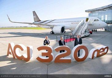 首架空客ACJ320neo公务机交付卫城航空