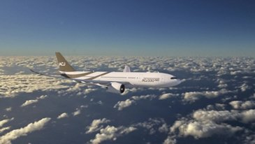 ACJ330空中飞行
