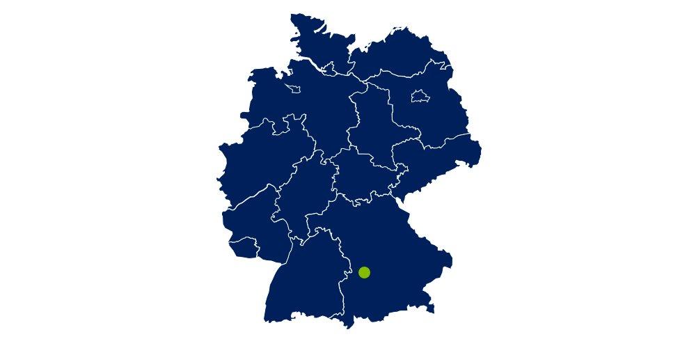 Deutschlandkarte Donauwörth Grün