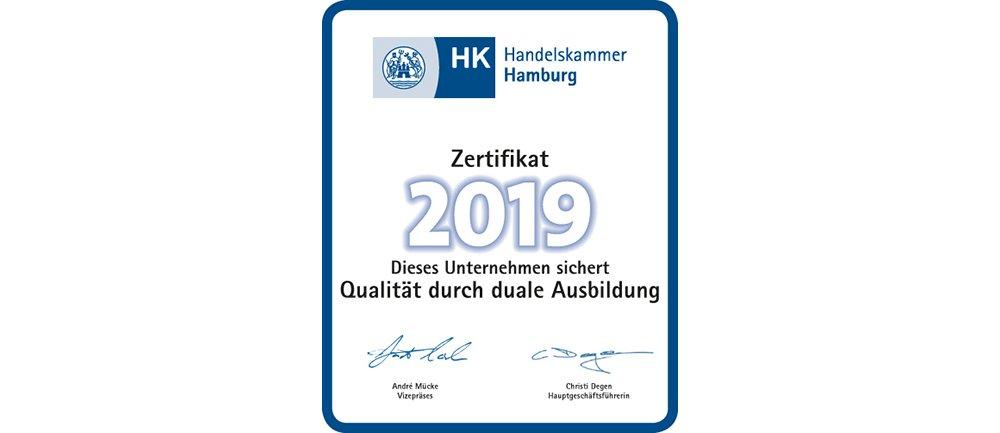 2019 IHK Zertifikat Duales Studium