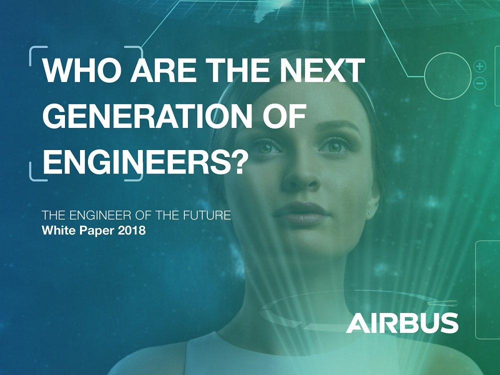 "A representative graphic for Airbus' White Paper titled ""Who are the next generation of engineers?"""