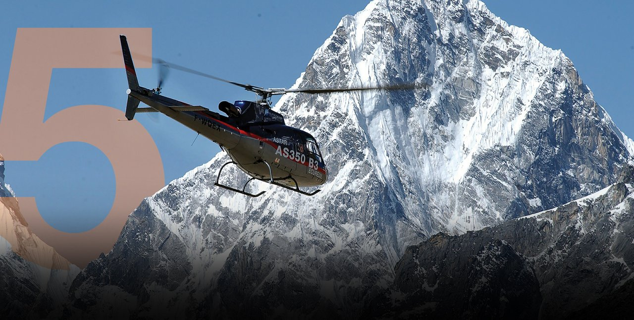 THE MOMENT A HELICOPTER CONQUERED EVEREST