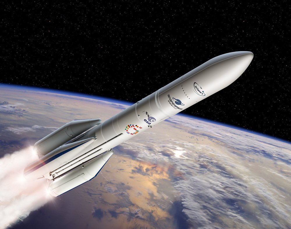 Configuration Of Ariane 6 Using Four Boosters A64. Photo: ESA