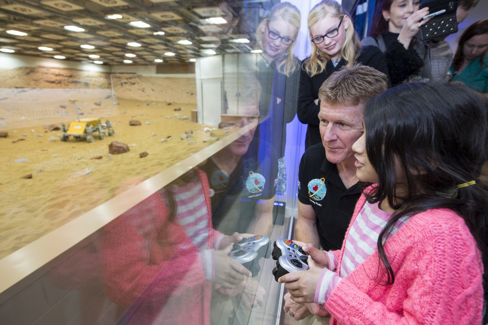 ESA Astronaut Tim Peake opens the Airbus Foundation Discovery Space in Stevenage