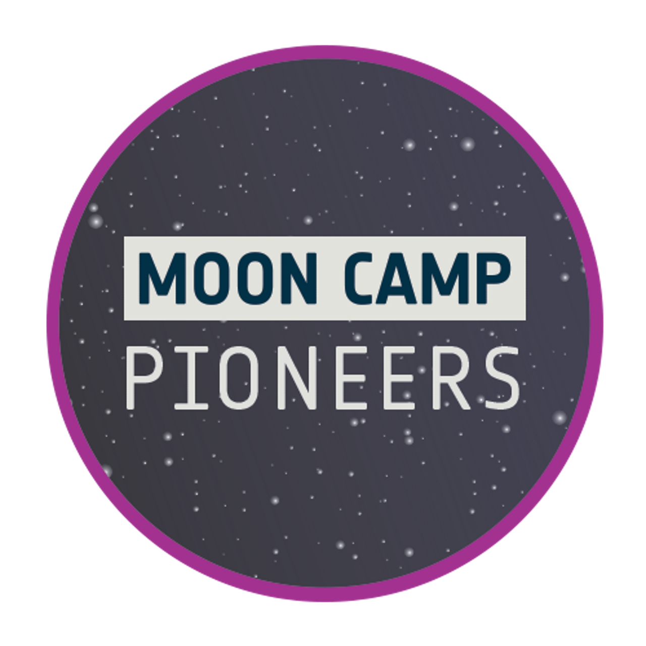 Logo for the Airbus Foundation-supported Moon Camp Challenge's advanced level.
