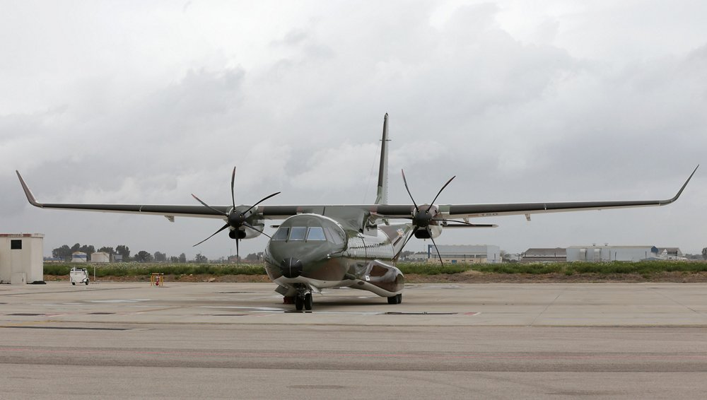 An on-ground photo of an Airbus C295 tactical aircraft delivered to the Royal Thai Army.