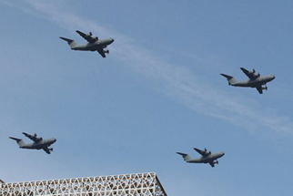Formation flight of the Royal Malaysian Air Force's 