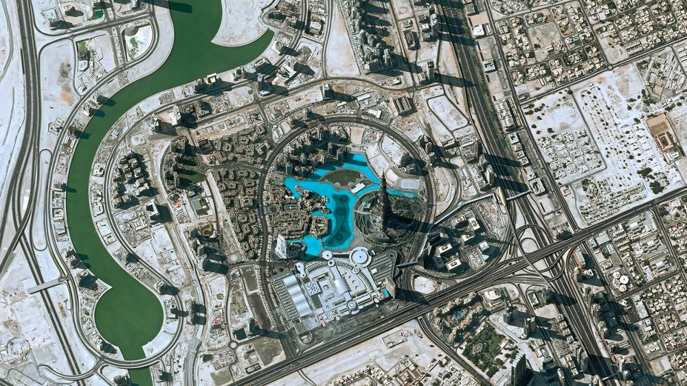 Africa Middle East Satellite Image Pleiades Dubai