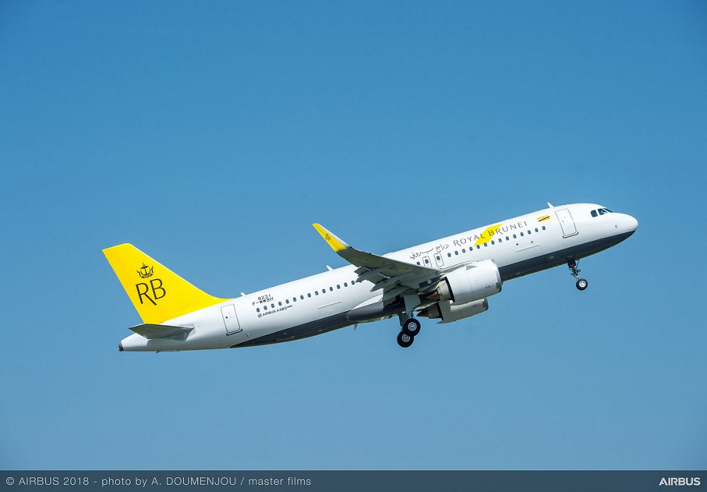A320neo Royal Brunei MSN8231 taking off