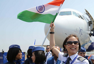 The first A320neo jetliner delivered to IndiGo