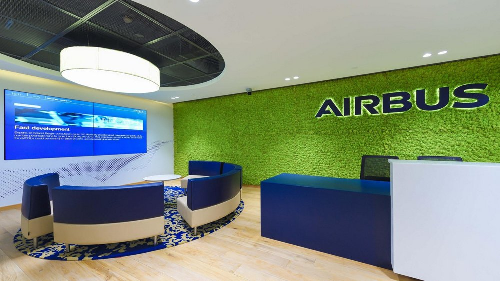 A view inside the Airbus Engineering Centre in Bengaluru, India.