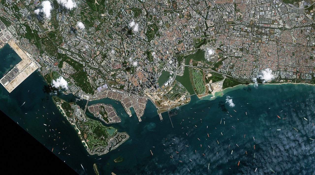 Satellite Image Kazeosat 1 Singapore