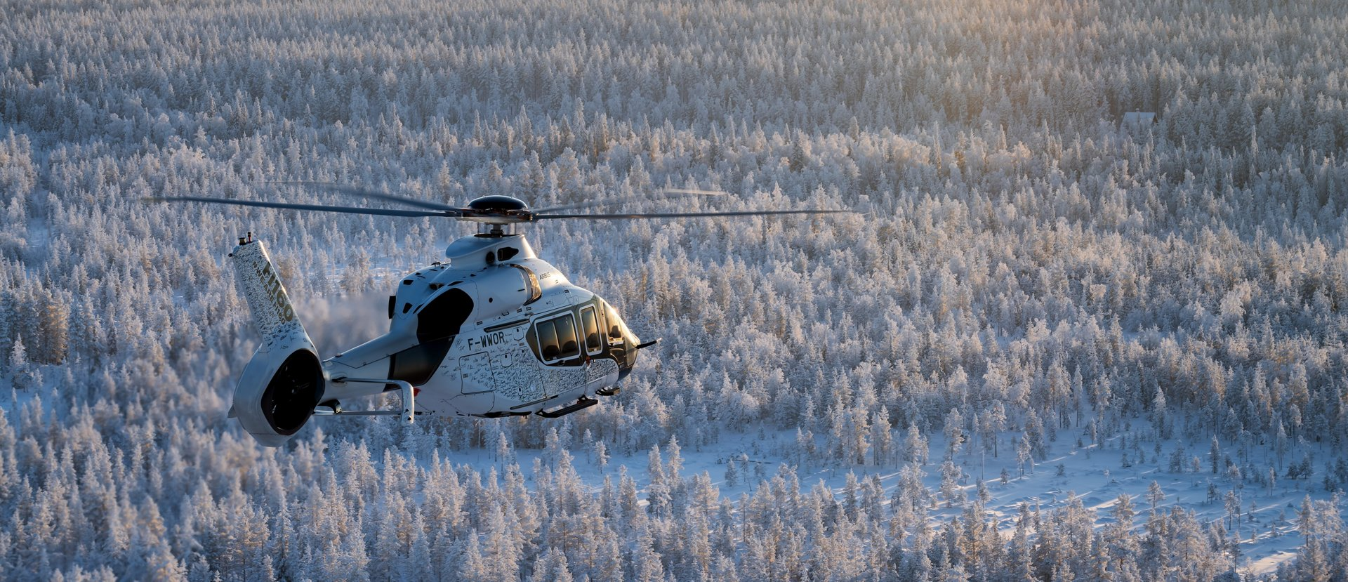 Decarbonising helicopters