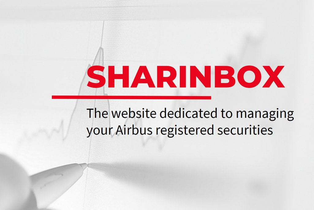 Sharinbox, the website dedicated to managing your Airbus registered securities