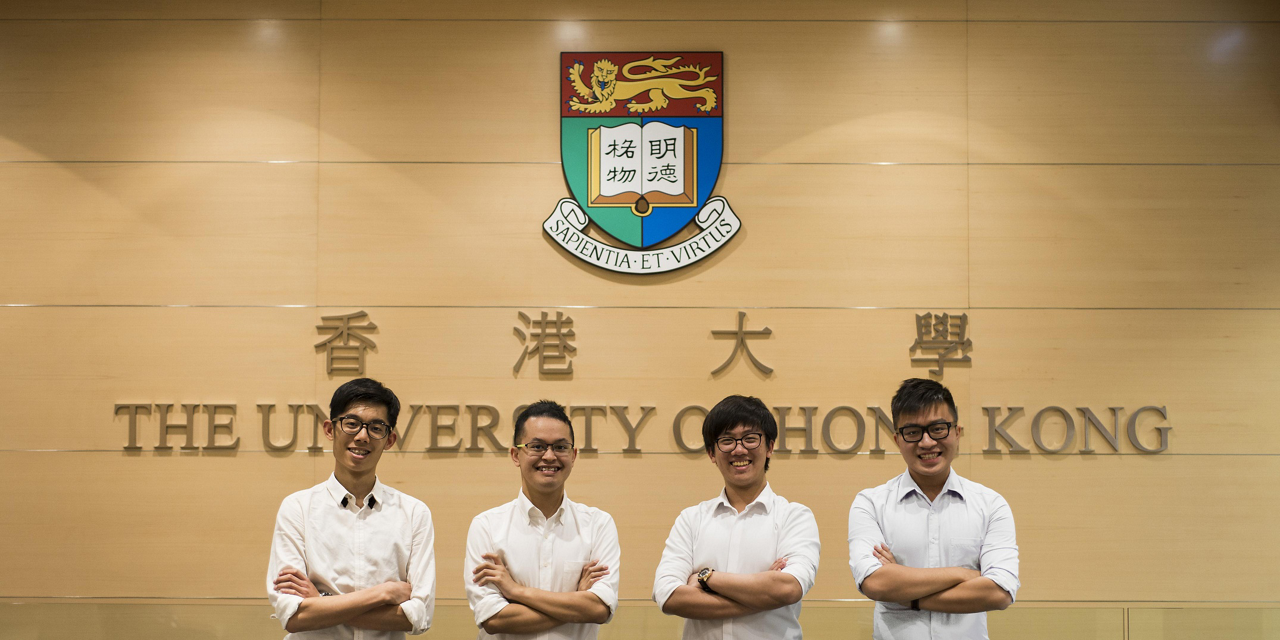 """Winner of the """"Fly your ideas"""" challenge 2017: Team DAELead Hong Kong Team"""