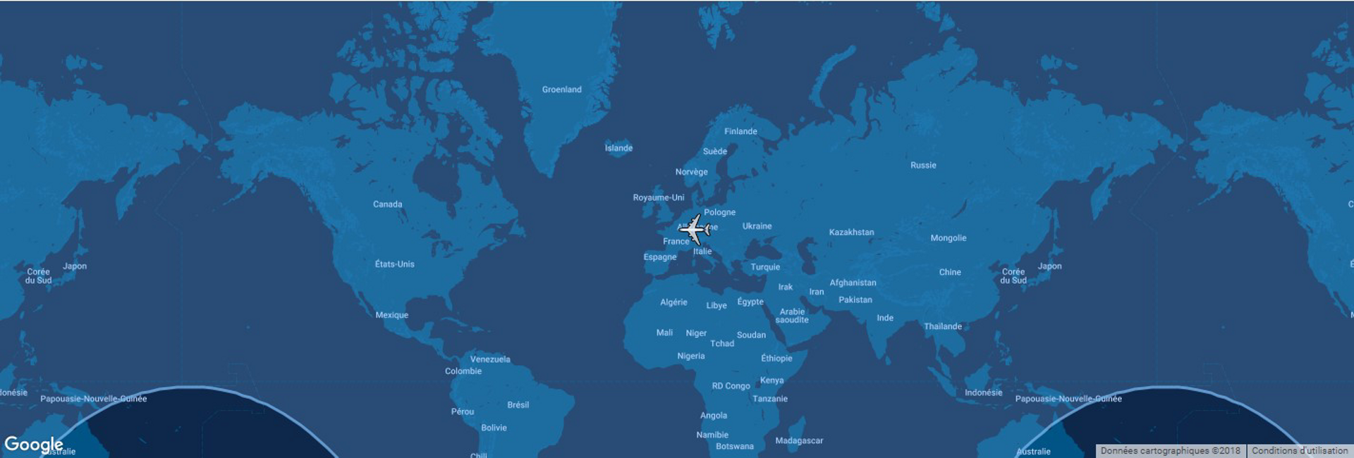 The typical range for Airbus' A380 commercial aircraft is shown in this diagram, which includes a global map.