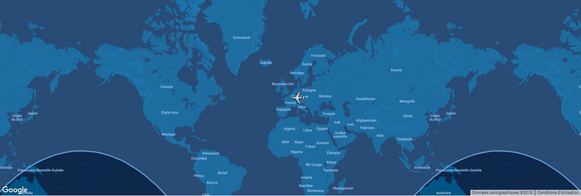The typical range for Airbus' A330-200 commercial aircraft is shown in this diagram, which includes a global map.
