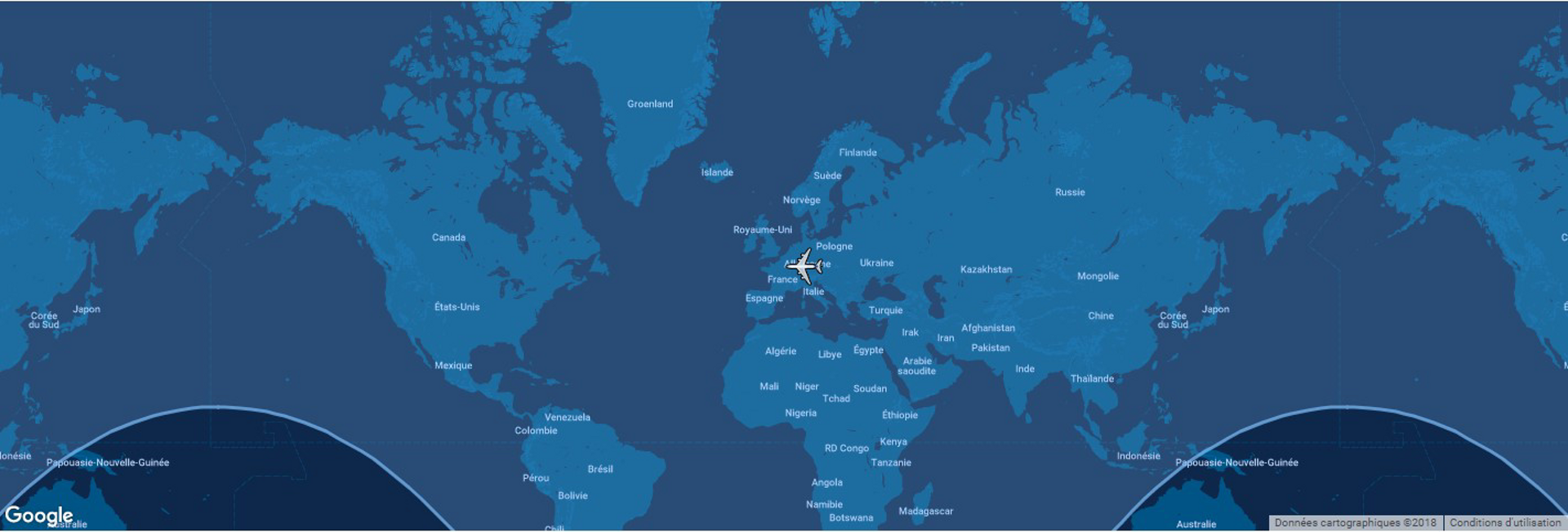 The typical range for Airbus' A330-900 commercial aircraft is shown in this diagram, which includes a global map.