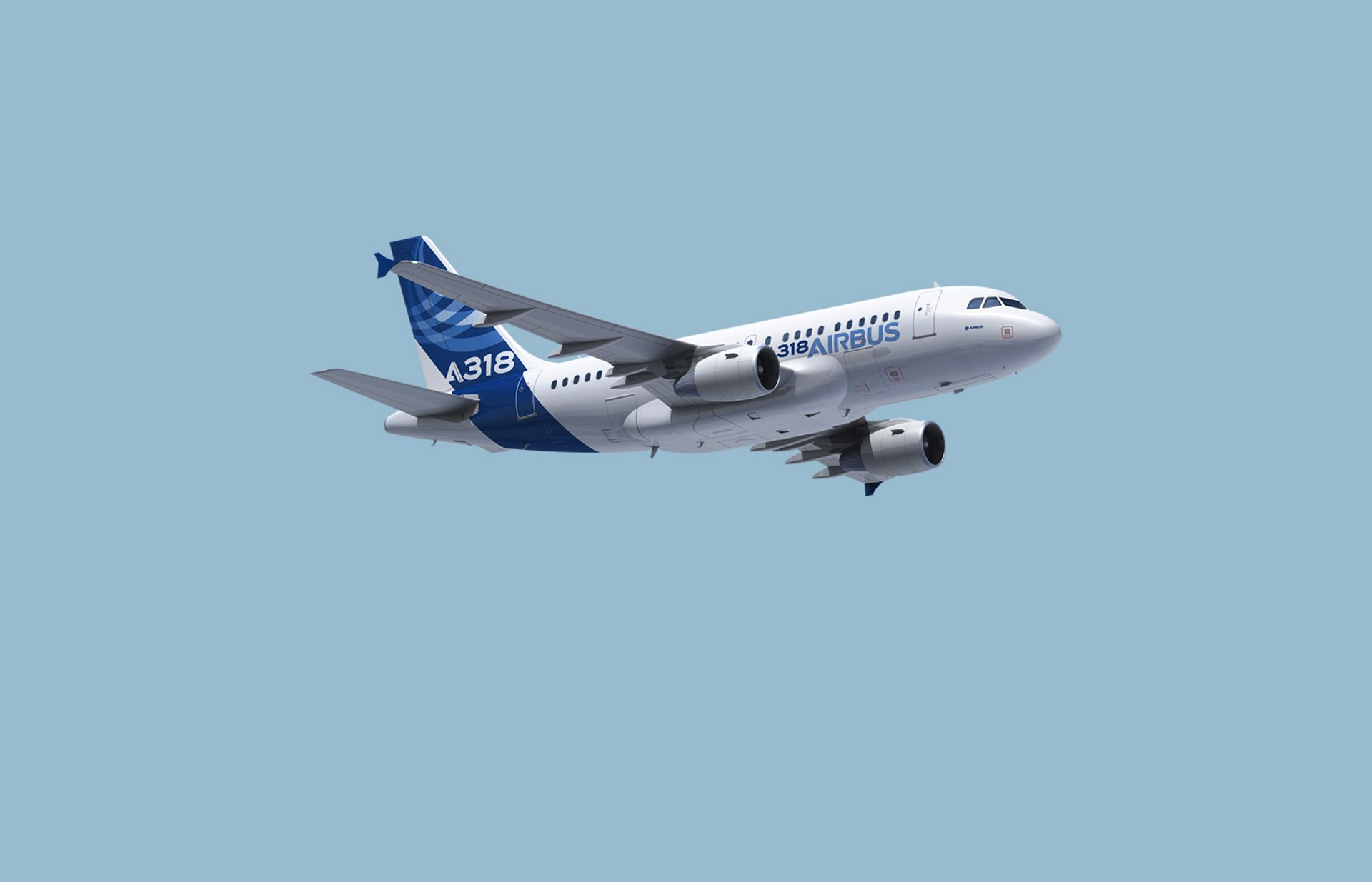 A318 in flight