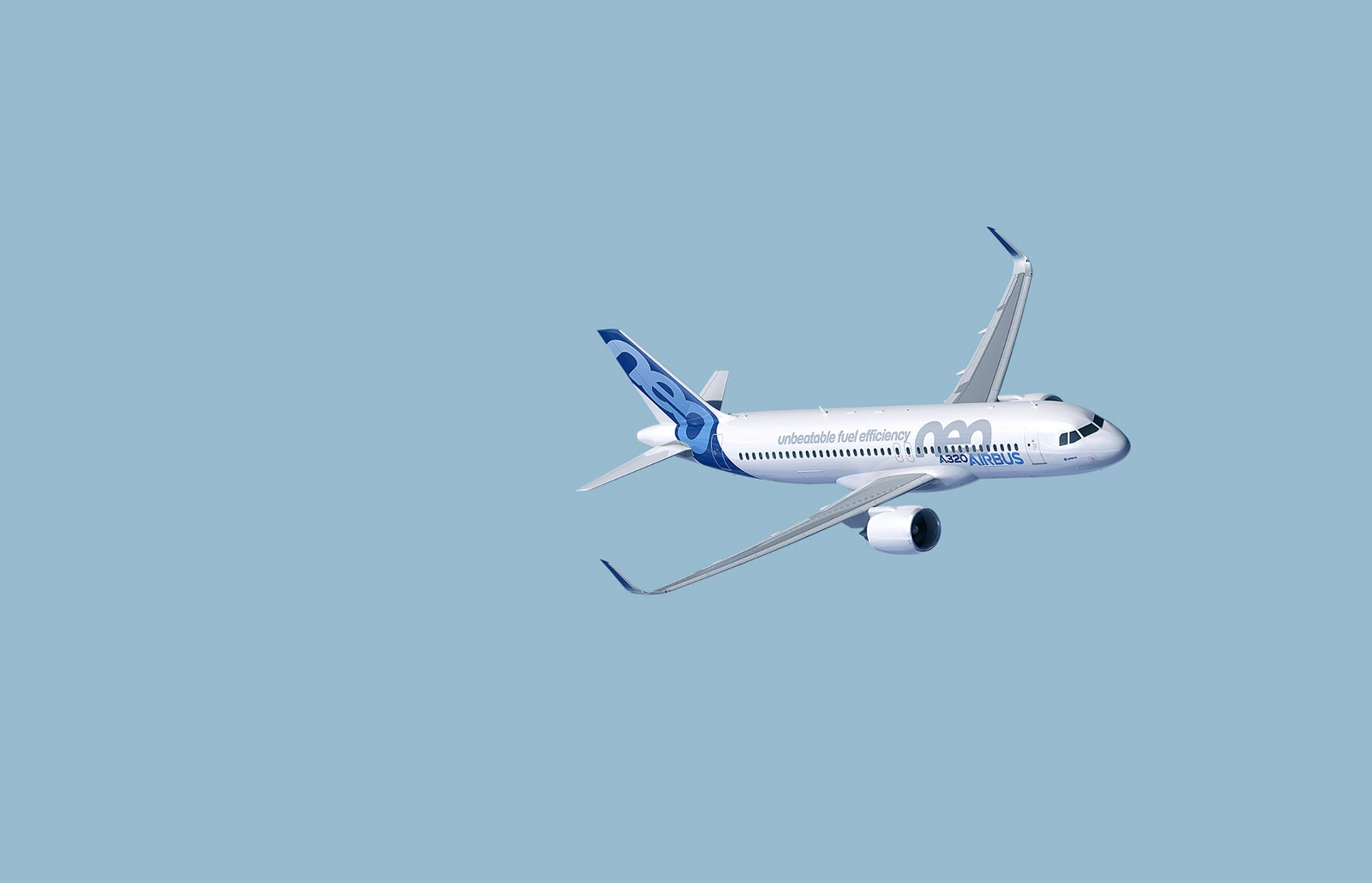 A320neo in flight