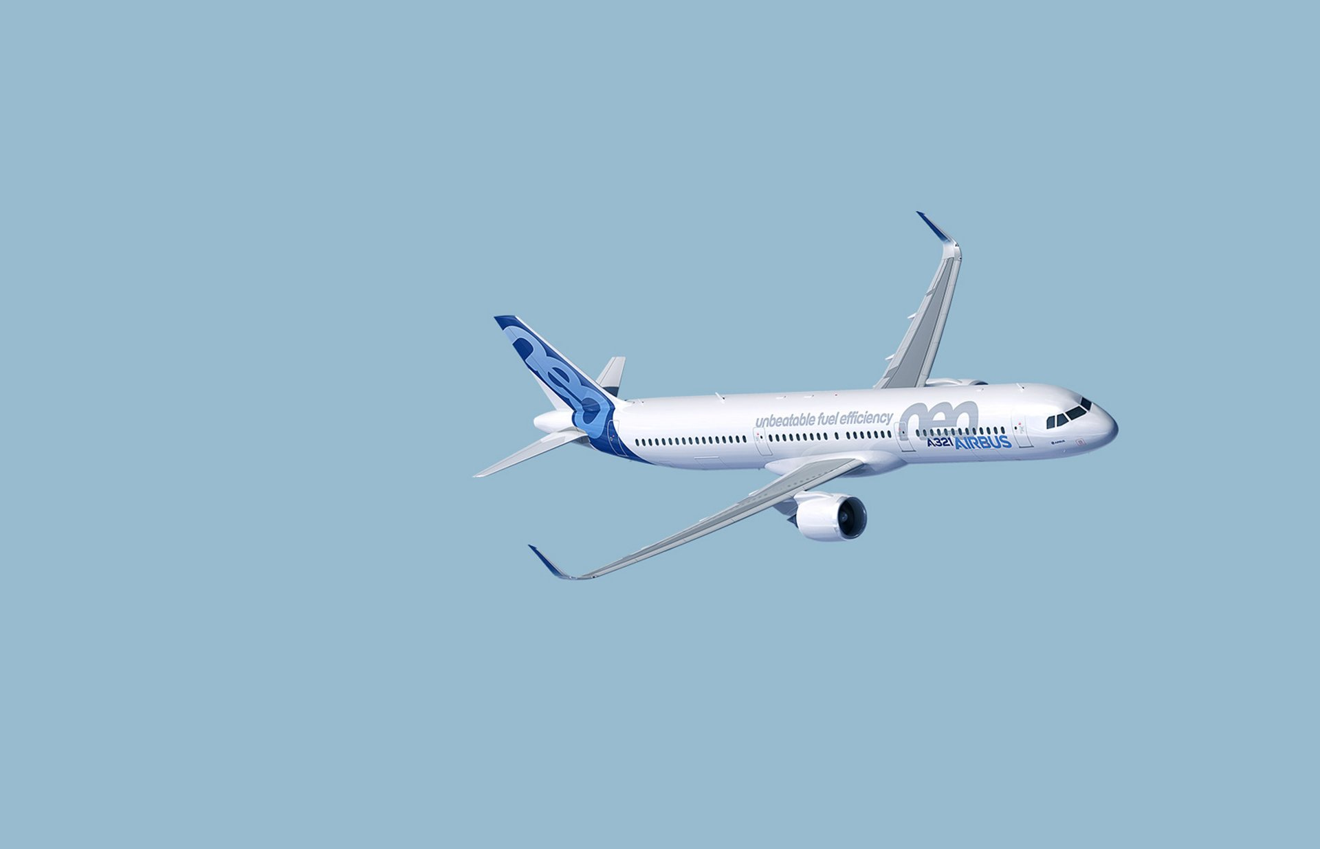 A321neo in flight
