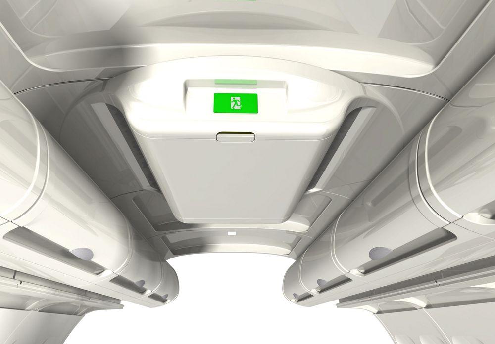 AIS A320 Classic Central Ceiling Stowage 3D