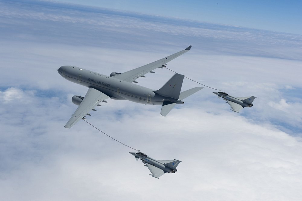 RAF A330 MRTT Air-Air refuelling  Eurofighter Typhoon