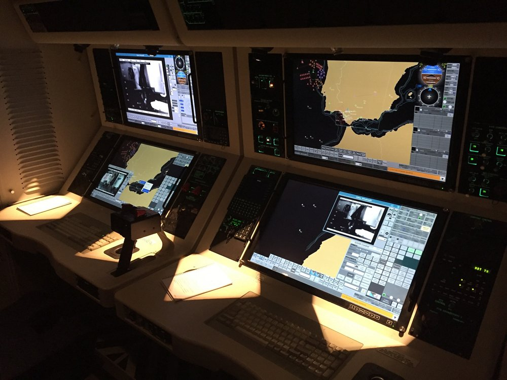 Monitors and controls for a C295 transport aircraft's Fully Integrated Tactical System (FITS).
