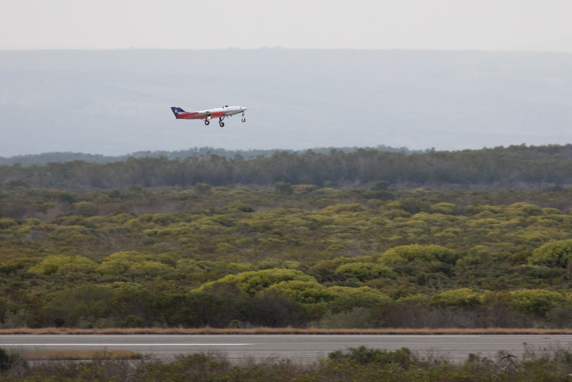 Successful first flight for UAV demonstrator SAGITTA