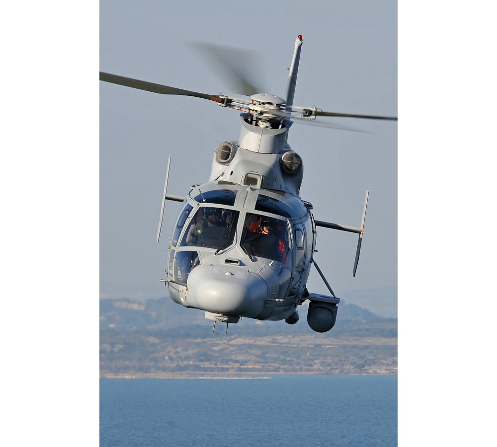 The AS565 MBe naval version of Airbus' Panther family of helicopters is an all-weather, multi-role medium rotorcraft, designed for operation from ship decks, offshore locations and land-based sites.
