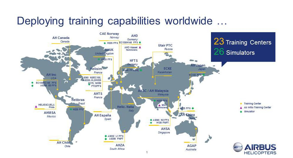 Airbus Helicopters Training Map March 2017
