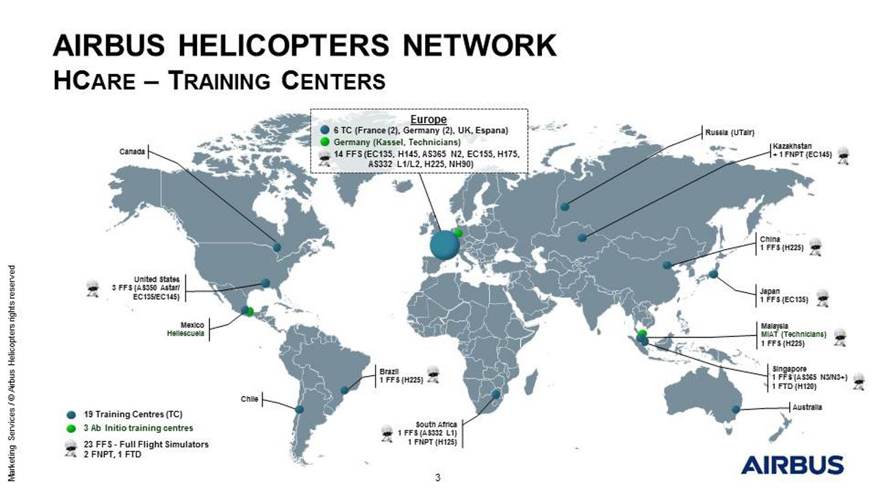 Airbus Helicopters Training Map - March 2018