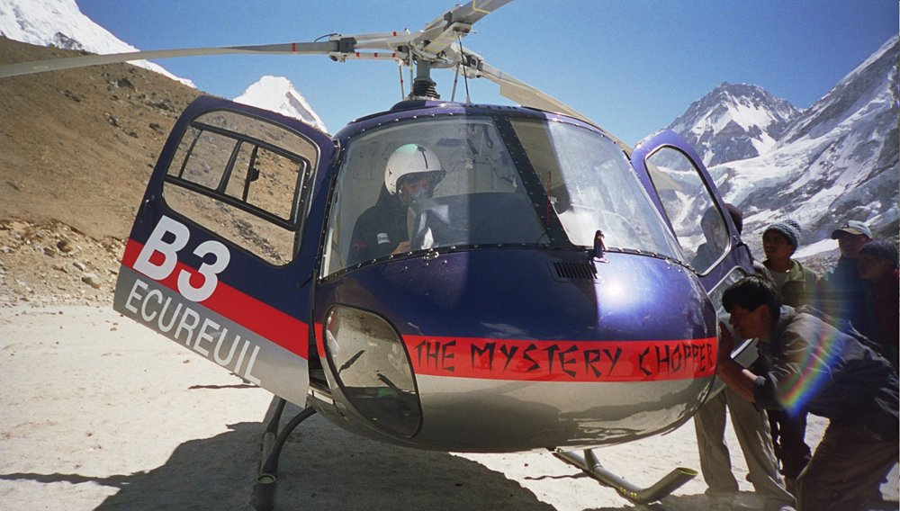 Test pilot Didier Delsalle reached the summit of Mount Everest using an AS350 B3 helicopter in 2005.