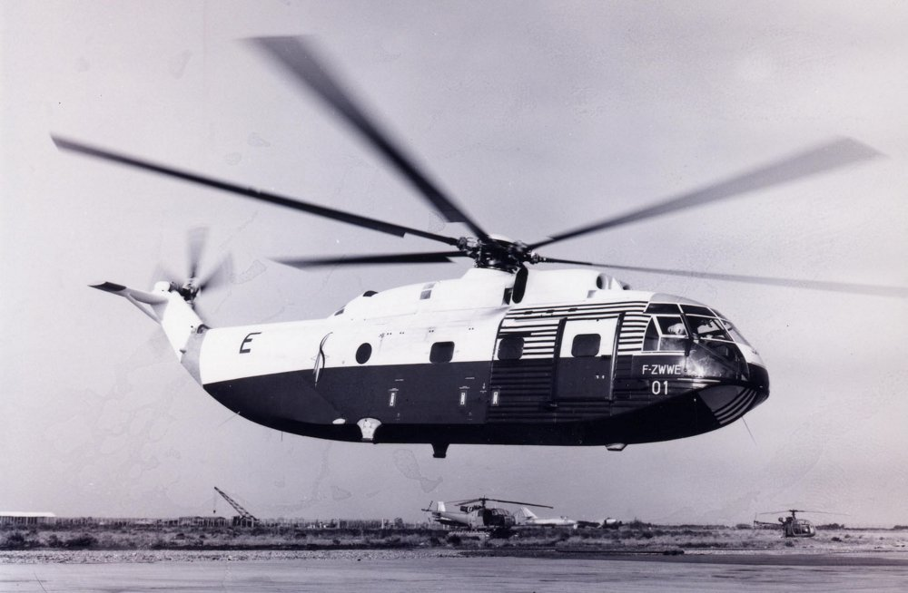 Super Frelon n°01 Sud Aviation – configuration Record  in July 1963.