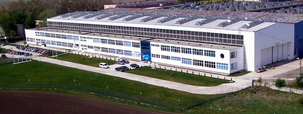 An external view of the Airbus Helicopters Romania facility in Brasov.