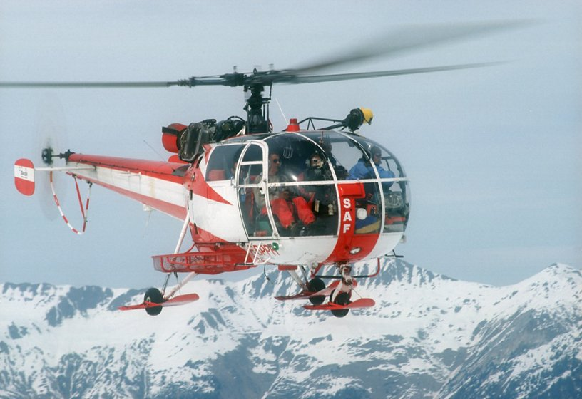 Alouette III  for mountain rescue