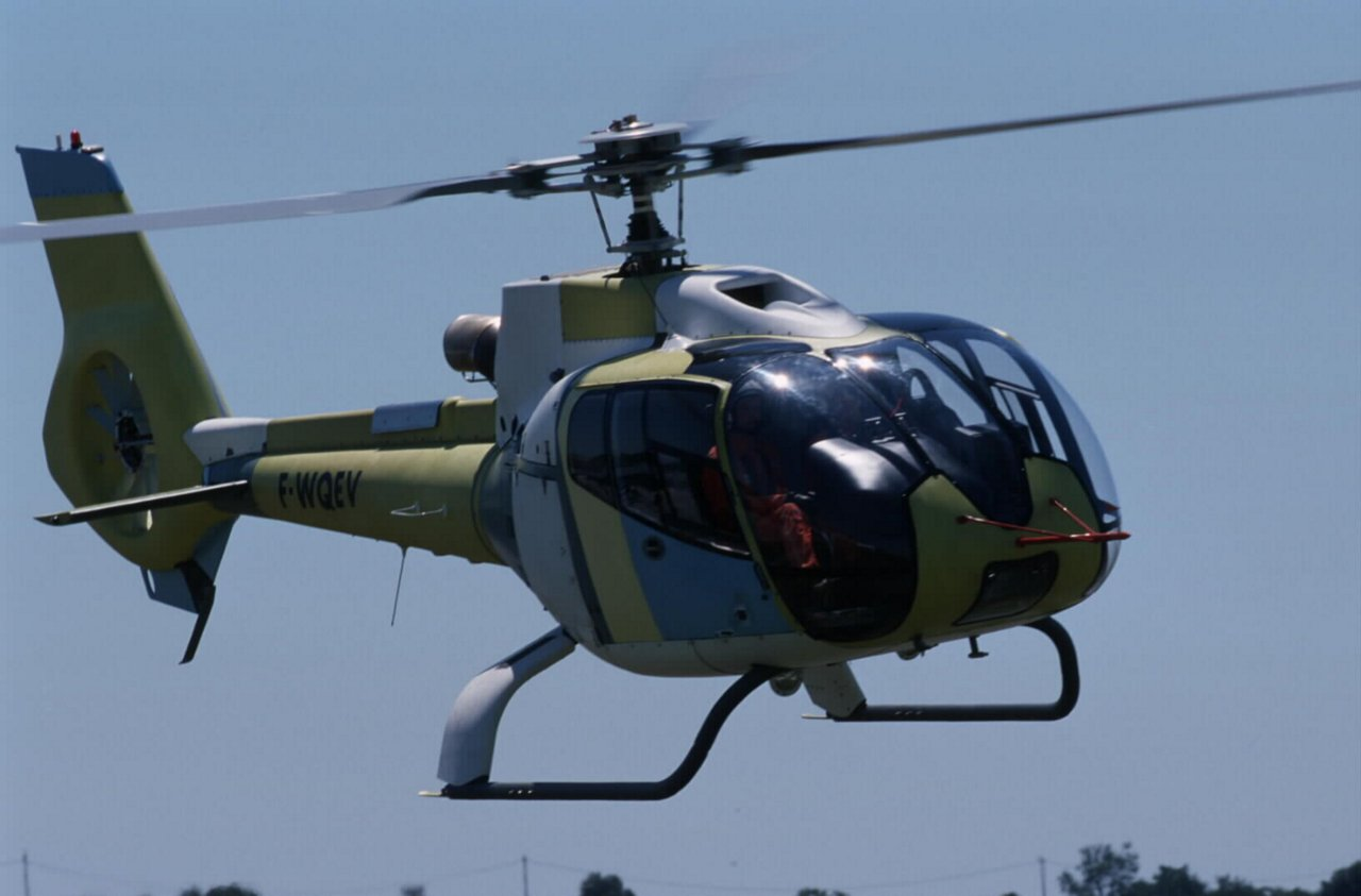 First flight of the EC130 on June 24, 1999 in Marignane.