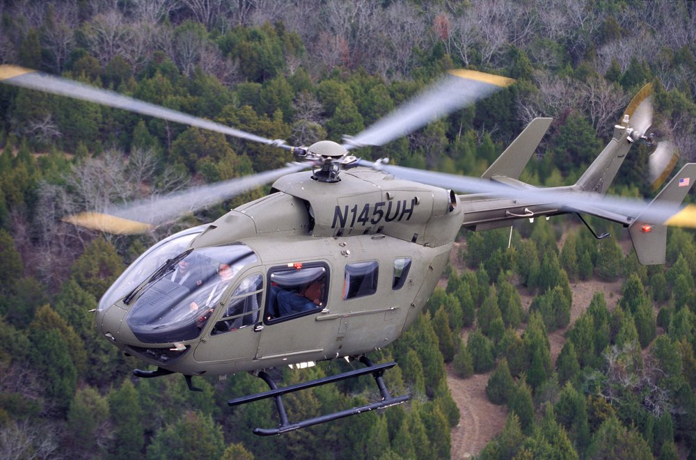 The UH-72A Lakota light utility helicopters acquired by the U.S. Army are based on Airbus' H145 multi-mission helicopter.