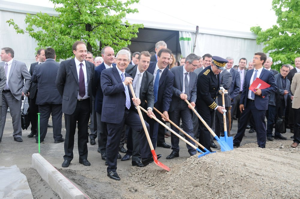 Groundbreaking ceremony for new Paris-Le Bourget site