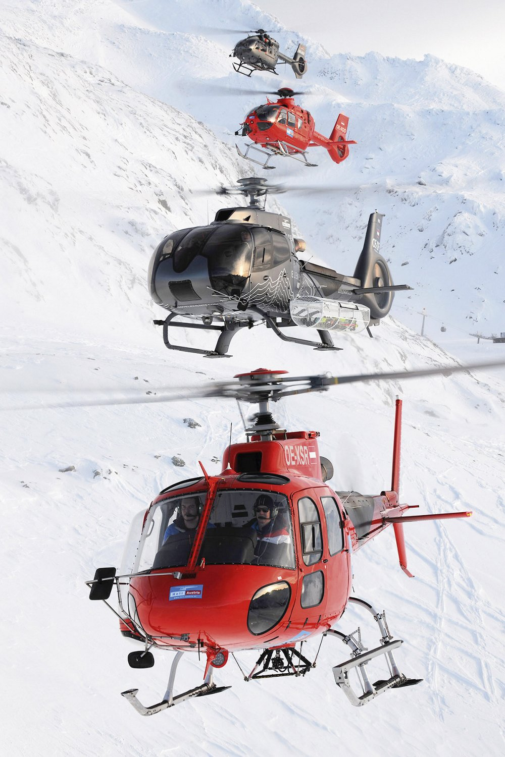 Heli Austria has been flying missions in the Austrian Alps since the 1990s.