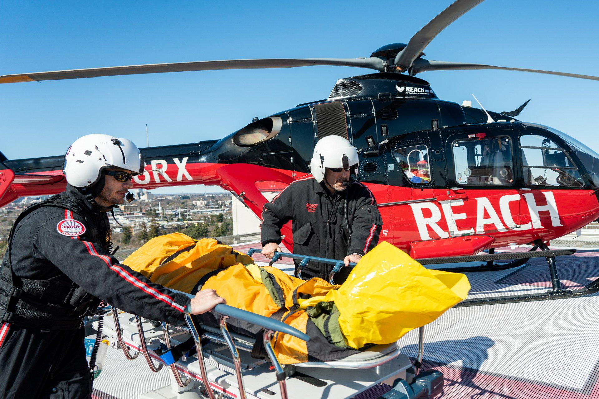 The company's six air-based subsidiaries and dozens of ground ambulances provide emergency medical transport for 46 states and the District of Columbia.