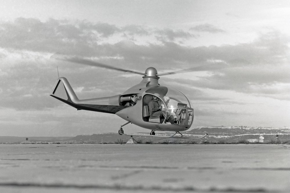 The first flight of Faon in 1963