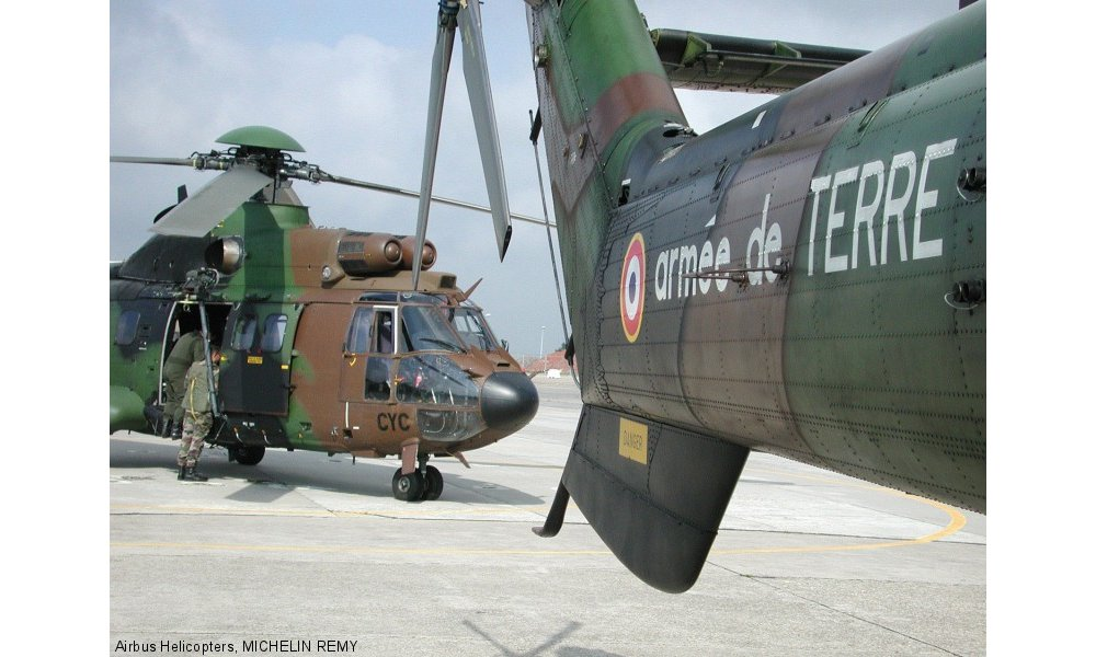 A view of two Airbus Helicopters' rotorcraft delivered to the French Armed Forces.