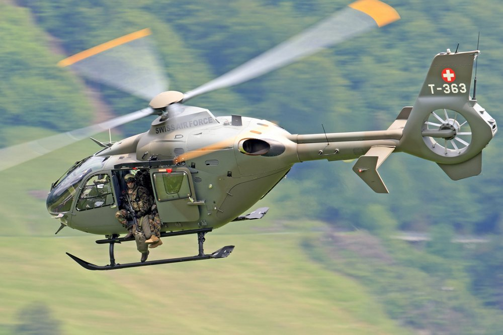 Airbus-built H135M use by the Swiss Armed Force for its versatility on a wide variety of missions and trainings