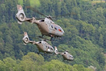 Swiss Armed Force's H135M operating MEDEVAC/CASEVAC missions