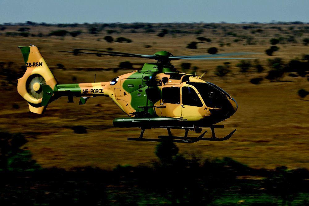 Jordanian Armed Force's H135M in flight