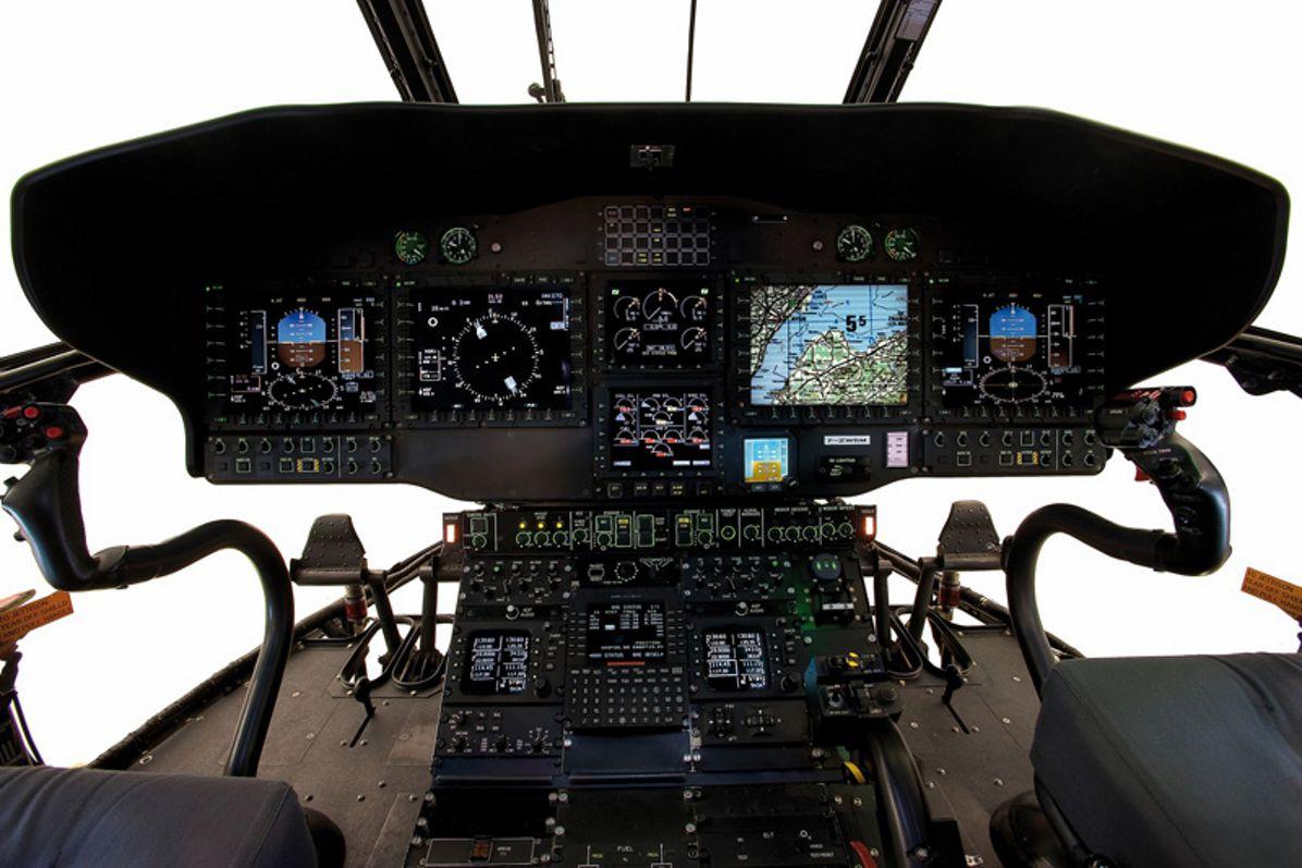 A modern cockpit