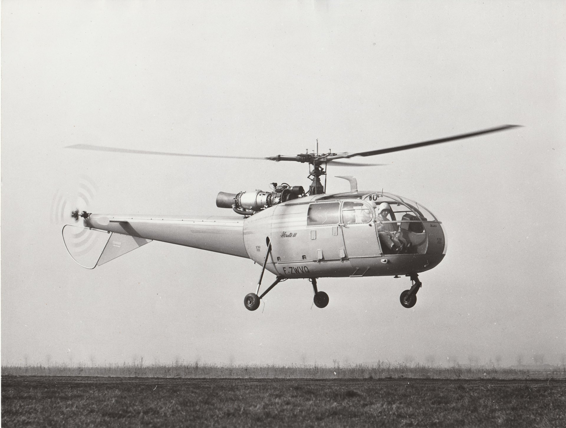 The Alouette III SA3160, flown by Jean Boulet and Robert Malus, completed its maiden flight in Bourget on 28 February 1959.