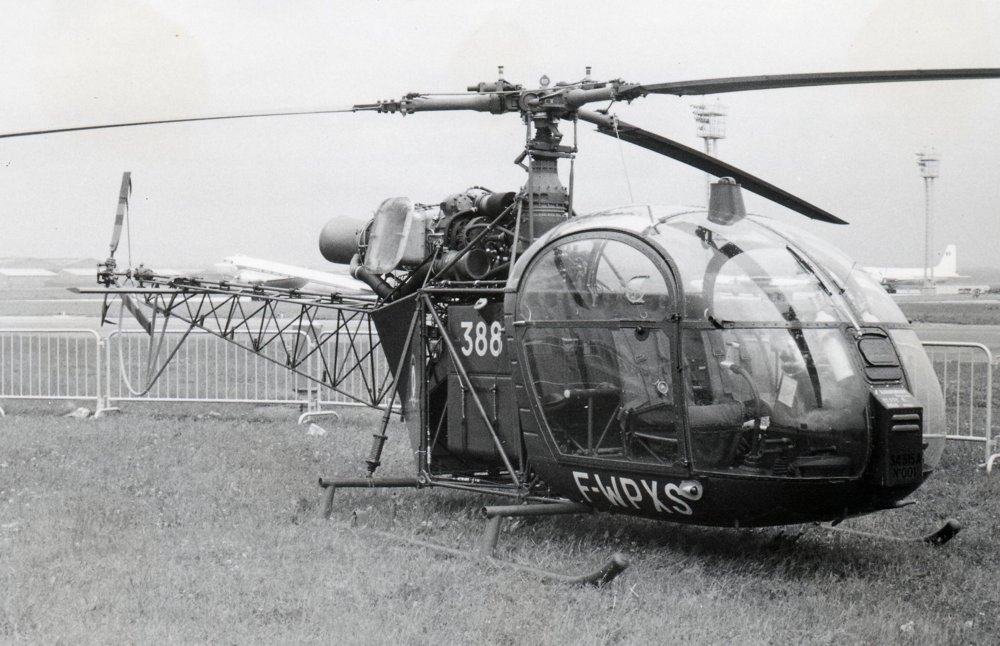 The SA315 on the runway in France on June 15, 1969.