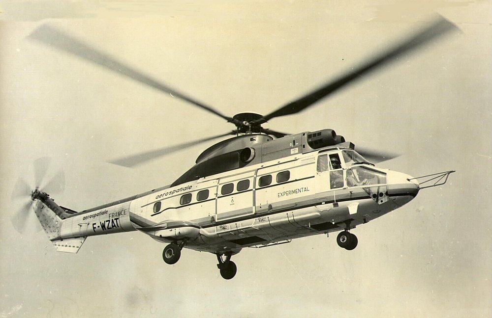 The final flight of the experimental SA331 helicopter was performed in September 1977.